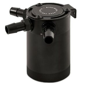 Mishimoto Black 2 Ounce Aluminum 2 port Compact Baffled Oil Catch Can