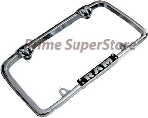 Chrome black Dodge Ram Metal License Plate Frame Car truck Steel Tag Holder Hemi
