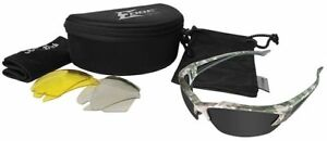 Edge Khor Polarized Safety Glasses Kit Digital Camo Gray Yellow Clear Lens