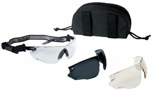 Bolle Combat Tactical Safety Glasses Kit With Clear Anti fog Esp