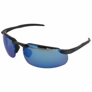 Bullhead Swordfish Safety Glasses Black Frame Polarized Precision Blue Lens