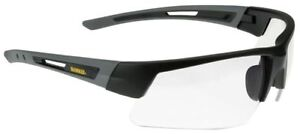 Dewalt Crosscut Safety Glasses With Black gray Frame And Clear Lenses
