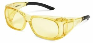Elvex Ovr spec Ii Safety Glasses With Amber Frame And Amber Lens Ansi Z87