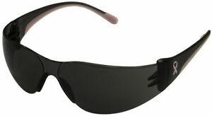 Bouton Eva Petite Women s Safety Glasses With Pink Temple Trim And Gray Lens