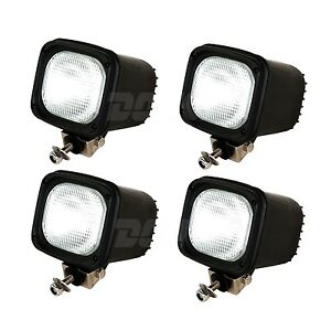 4pcs 35w 12v Hid Xenon Work Light Flood Beam 4inch For Truck Atv Suv 4wd Offroad