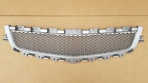 Fits 2008 2012 Chevy Malibu Front Bumper Radiator Silver Middle Grille New