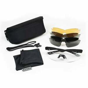 Edge Overlord Shooting Glasses Kit With Smoke Clear Tiger s Eye G15 Lenses