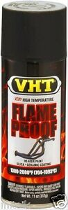 Vht Sp102 High Temperature Exhaust Manifold Paint Aerosol Flat Black Flameproof