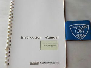 Fluke 873a 873ab Ac dc Differential Voltmeter Instruction Manual