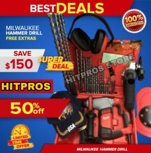 Milwaukee 5 8 Sds Rotatory Drill Likke Hilti Te 7 new Free Grinder Fast Ship