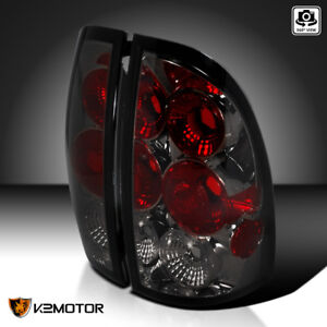For 2005 2008 Toyota Tacoma Smoke Tail Lights Rear Brake Lamps Pair Lh Rh