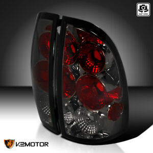 For 2005 2008 Toyota Tacoma Smoke Tinted Tail Lights Rear Brake Lamps Left Right
