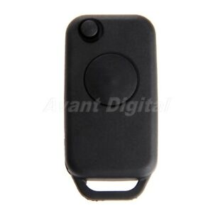 1btn Flip Folding Car Entry Remote Fob Cover Replacement Key Shell Case For Benz