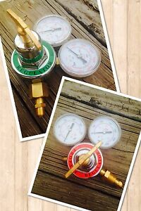 Propane Oxygen Set Of 2 Torch Regulators For Brazing cutting Welding brass