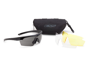 Ess Crosshair Safety Glasses 3 Lens Kit Clear Gray Hd Yellow Lenses