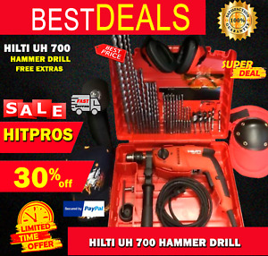 Hilti Uh 700 Hammer Drill New Free Angle Grinder A Lot Of Extras Fast Ship