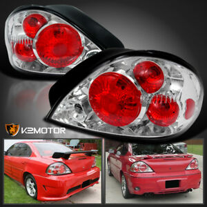 1999 2005 Pontiac Grand Am Tail Lights Chrome Pair Depo