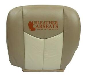 2004 2005 Gmc Yukon Denali Driver Side Bottom Leather Seat Cover 2 Tone Tan