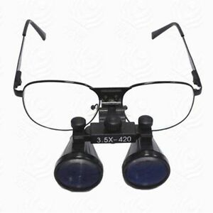 3 5x420mm Dental Binocular Loupes Medical Magnifier With Metal Frame Us Stock