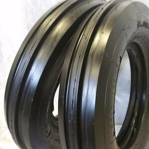 2 550x16 550 16 5 50x16 Deere Ford Six Ply 3 Rib Tractor Tires W tubes 5 50 16