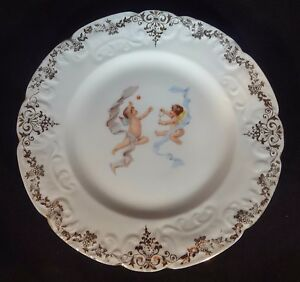 Victorian Plate Decorated With Cherubs