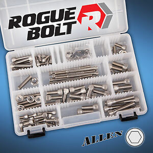 Small Block Chevy Sbc Vortec Stainless Engine Allen Bolt Kit Set 062 096 Heads