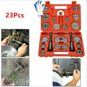 23pcs Universal Disc Brake Caliper Wind Back Tool Kit Piston Pad For Car Truck