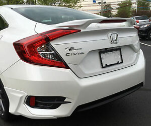 Painted Spoiler For A Honda Civic 4 door Sedan Factory Style 2016 2018