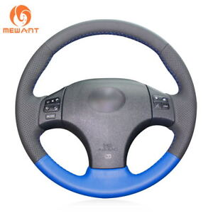 Black Blue Genuine Leather Steering Wheel Cover For Lexus Is250 Is300 F Sport
