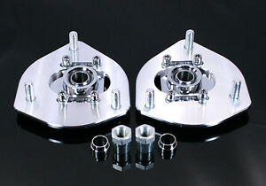 Honda Civic 01 05 Billet Adjustable Front Camber Plates Kit For Coilover
