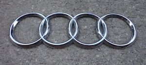 Audi Trunk Emblem Badge Decal Logo Chrome Rear Oem Genuine Factory A3 A4 A5 A6