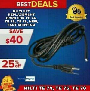 Hilti 9ft Replacement Cord For Te 74 Te 75 Te 76 New Fast Shipping