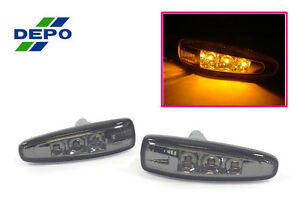 Depo 08 15 Mitsubishi Lancer Evo 10 X Smoke Led Fender Side Marker Lights Jdm