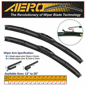 Aero Hybrid 24 22 Oem Quality Windshield Wiper Blades Set Of 2