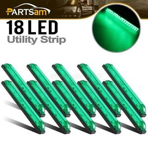 10x Green Utility Strip 18led Boat Trailer Marker Clearance Courtesy Light 8