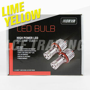Nokya Hi power Led Fog Light Bulb For 9006 hb4 Hyper Lime Yellow