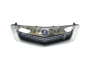 For 2009 2010 Acura Tsx Sedan Grille Upper Lower Moulding Trim Silver Assy 3pc
