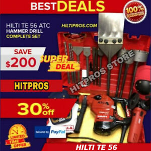 Hilti Te 56 Preowned Free Hilti Grinder Bits A Lot Of Extra Fast Ship