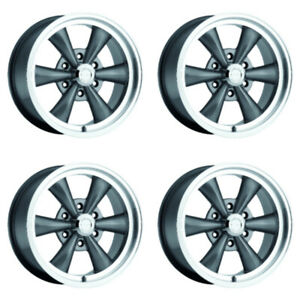 Set 4 17 Vision 141 Legend 6 Gunmetal Wheels 17x8 6x5 5 19mm Chevy Gmc 6 Lug