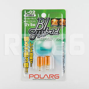 Polarg P1595a L 02 12v 5w T10 194 Type Amber Bulb Made In Japan