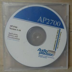 Audio Precision Ap2700 Version 3 10 Application utilities Documentation On Cd