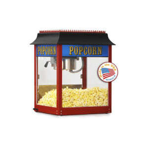Paragon 1911 4 Oz Popcorn Machine Domestic Red Theater Style Concession 1104110