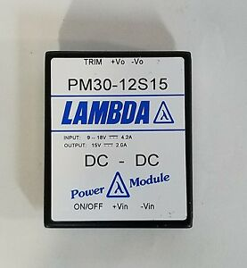 Lambda Pm30 12s15 Dc dc Power Module Isolated Output 15v 2 0a Converter