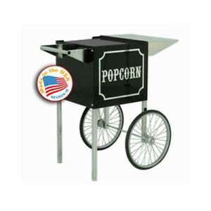 Paragon Popcorn Small Black Push Cart Merchandiser Concession Stand 3080820