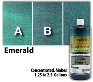 Professional Easy To Apply Water Based Concrete Stain Emerald