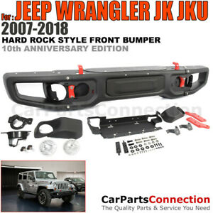 10th Anniversary Hard Rock Style Metal Front Bumper Cover Fog Light 07