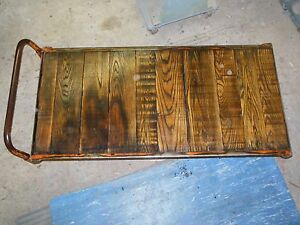 Beautiful Factory Cart Coffee Table Steampunk Vintage Industrial Retro 30 X 61