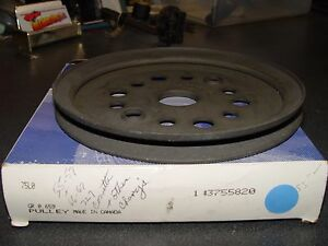 1955 67 Corvette 1 Groove Crank Pulley Gm 3755820 Bc Ncrs Rare Blk Phosphate
