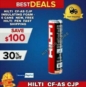 Hilti Cf as Cjp Insulating Foam 6 Cans New Free Hilti Pen Fast Shipping