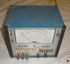 Hickok Teaching Systems Model 5720 Auto Polarity Fet Multimeter